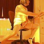 Johanna in White Silk Underwear Playing with her Clitty