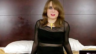 Kinky amateur tgirl jerksoff and fingers ass