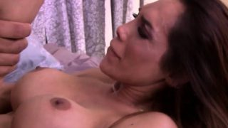 Gobbling trans babe cums