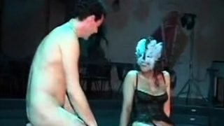 Hot shemale threesome with cumshot