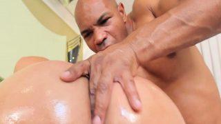 Stuffing big shemale ass hole