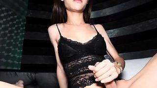 Young Ladyboy Kitty Fucks Guy After The Blowjob