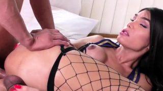 Asian Tgirl Kalliny Nomura rides a studs big hard cock