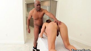 Black real estate guy fuck tranny slut