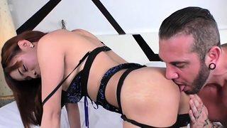 Horny ladyboy loves big cock
